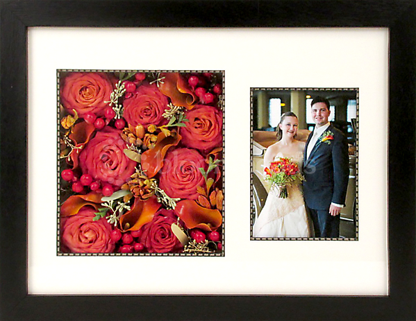 Preserved Flowers in Frame with Front Mat w/ Photo 12