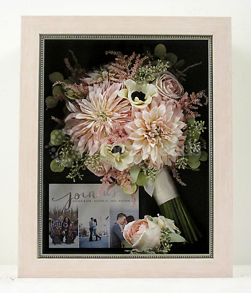 Preserved Bridal Bouquet with Dahlias