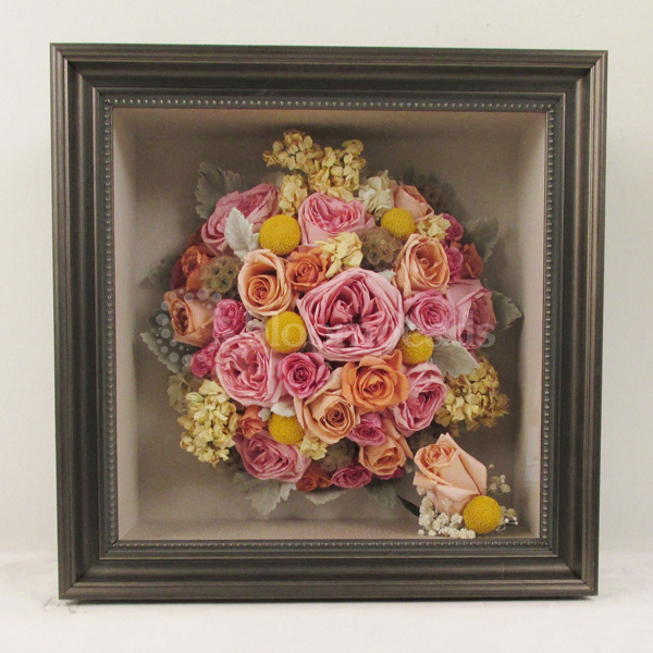 Freezedried Wedding Bouquet in Pink & Yellow